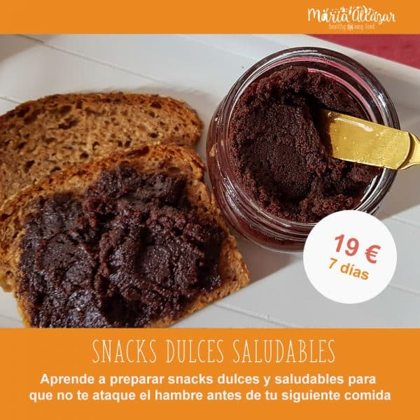 "Taller online ""Snacks dulces y saludables"""
